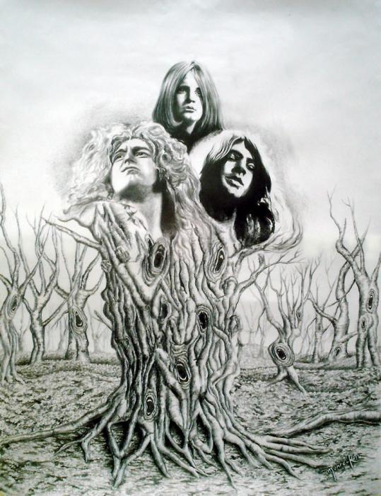 Robert Plant, Ozzy Osbourne, Ian Gillan by Hector-Monroy